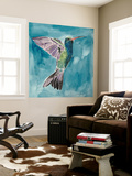 Watercolor Hummingbird I Wall Mural by Grace Popp