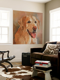 Calie Yellow Lab Wall Mural by Edie Fagan