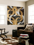 Golden Wave II Wall Mural by Jennifer Goldberger