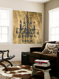 Gilt Chandelier V Wall Mural by Jennifer Goldberger