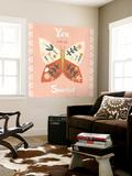 Folk Butterfly II Wall Mural by June Erica Vess