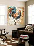 Rooster Flair I Wall Mural by Evelia Designs