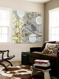 Serene Bird and Branch I Wall Mural by Jennifer Goldberger