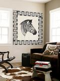Safari Zebra I Wall Mural by Grace Popp