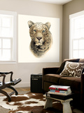 Safari Cat I Wall Mural by Grace Popp