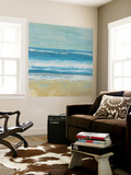 Puddle Beach Wall Mural by Dlynn Roll
