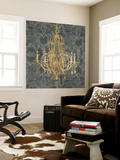 Gilt Chandelier IV Wall Mural by Jennifer Goldberger