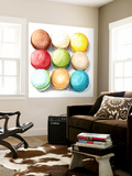 9 Macarons Wall Mural by  Redstreake