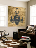 Gilt Chandelier VI Wall Mural by Jennifer Goldberger