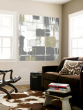 Neutral Quadrants II Wall Mural by Jennifer Goldberger
