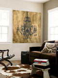 Gilt Chandelier VIII Wall Mural by Jennifer Goldberger