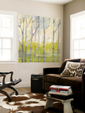 Whispering Treeline II Wall Mural by Jennifer Goldberger