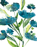 Blueberry Blooms II Art by Rebecca Meyers