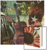 Guitar Collage Wood Print by Sisa Jasper