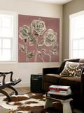 Marsala Roses II Premium Wall Mural by Grace Popp