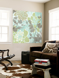Dahlias and Petals I Wall Mural by Jennifer Goldberger