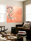 Tokyo Cherry I Wall Mural by Evelia Designs