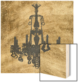 Gilt Chandelier VI Wood Print by Jennifer Goldberger