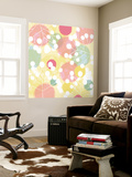Popping Flowers I Wall Mural by Ali Benyon