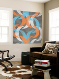 Graphic Wave II Wall Mural by Jennifer Goldberger