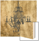 Gilt Chandelier VIII Wood Print by Jennifer Goldberger