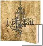 Gilt Chandelier VIII Wood Print by Jennifer Goldberger