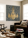 Gilt Chandelier II Wall Mural by Jennifer Goldberger