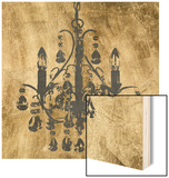 Gilt Chandelier V Wood Print by Jennifer Goldberger