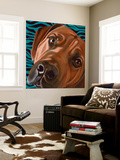 Dlynn's Dogs - Bunsen Wall Mural by Dlynn Roll
