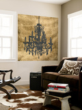Gilt Chandelier VII Wall Mural by Jennifer Goldberger