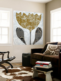 Folk Flowers I Wall Mural by Jennifer Goldberger