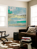 Cool Horizon IV Wall Mural by Jennifer Goldberger