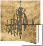 Gilt Chandelier VII Wood Print by Jennifer Goldberger