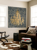 Gilt Chandelier III Wall Mural by Jennifer Goldberger