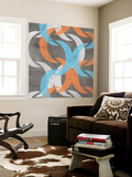 Graphic Wave I Wall Mural by Jennifer Goldberger