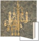 Gilt Chandelier I Wood Print by Jennifer Goldberger