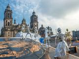 Day of the Dead in Mexico City, Dia De Los Muertos Photographic Print by  javarman