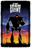 Iron Giant - Poster - Woven Throw Throw Blanket