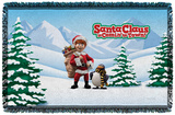 Santa Claus Is Comin To Town - Kris And Topper - Woven Throw Throw Blanket