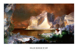 The Icebergs Print by Frederic Edwin Church