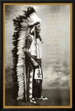 Chief White Cloud (Native American Wisdom) Art Poster Print Posters