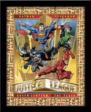 Justice League 3D Framed Art Afiche