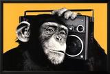 The Chimp Boombox Art Print Poster Print