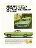 Ford 1968 Ranchero Luxury Idea Posters