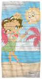 Betty Boop - Hula Boop Beach Towel Beach Towel