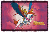 She Ra - Clouds - Woven Throw Throw Blanket