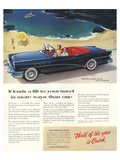 GM Buick-Lends a Lit to Travels Posters