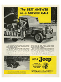 Get a Jeep - Willy Overland Print