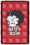 Betty Boop - Forty Winks - Woven Throw Throw Blanket