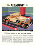 GM Chevrolet Driving Thrills Posters
